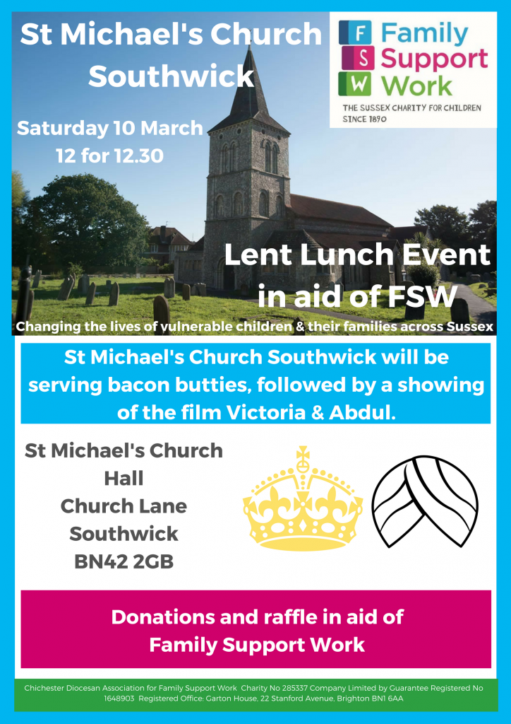 St Michael's Church Lent Event – Family Support Work